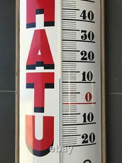 Insegna Termometro Ferrania HATU Bologna enamel sign plaque émaillée Gomma