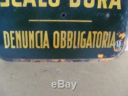 Insegna d'epoca Ufficio Scalo Dora Torino old sign vintage