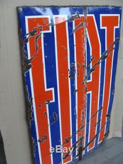 Insegna smaltata Fiat anni 40 old vintage sign Fiat Torino Italy 500 1100 s
