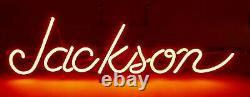JACKSON Guitars Vintage Red Neon Sign Window Store Display