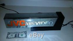 JVC VHS VIDEO LIGHTED STORE DISPLAY SIGN. WOW. A must for RARE VHS FANS. HEAVY