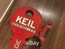 Keil Big Metal Key Store Display Locksmith Sign Wall Mount Charlestown Nh