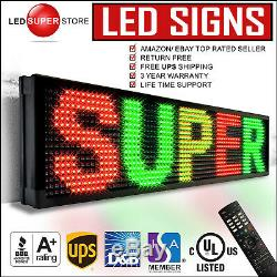 LED SUPER STORE 3COL/RGY/IR 22x117 Programmable Scrolling EMC Display MSG Sign