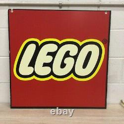 LEGO Red Square Logo Store Display Sign Toys R Us 28X28 Foam Board SHELF 1