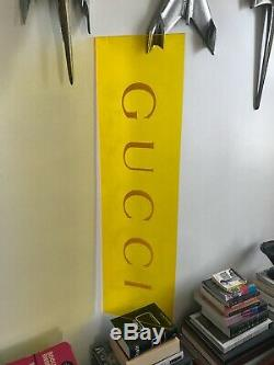 Large GUCCI acrylic store display sign light neon boutique rodeo drive