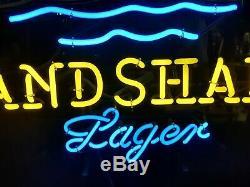 Large Landshark Fin Neon Sign Surf Board Beach Display Beer Store Bar Light