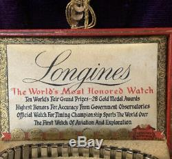 Longines Wittnauer Watch Worlds Fair Automaton Jewelry Store Display King WORKS