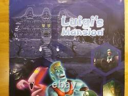 Luigi's Mansion Nintendo Gamecube Luigi Store Display Poster Sign Super Mario