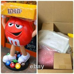 M&M's Red Character Candy Store Display with Storage Tray Free Shipping from JPN