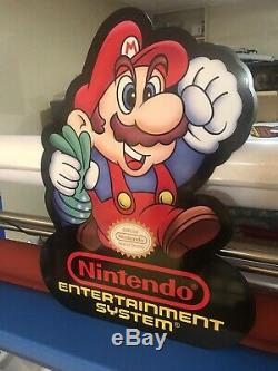 Mario Nintendo Store Display Aluminum 31 Sign NEW only 3 Available Vintage Look