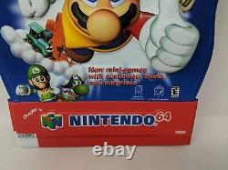 Mario Party 2 Nintendo 64 N64 Store Display Standee Sign Promo Promotional 90s