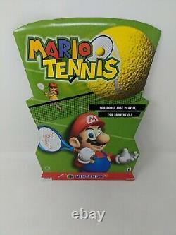 Mario Tennis Nintendo 64 N64 Standee Sign Promo Promotional Store Display VTG
