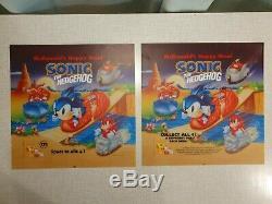 McDonald's Sonic Sega Nintendo Poster Sign Store Display Advertisement Translite