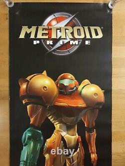 Metroid Prime Poster Banner Store Display Sign Samus Gamecube Nintendo N64