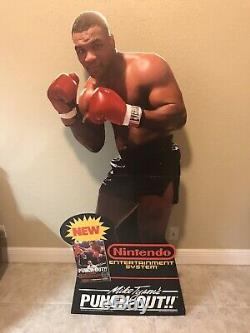 Mike Tysons Punchout Store Retail Display Standee Nintendo NES Used 6ft Sign
