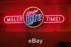 Miller Lite Beer Neon Sign Display Store Beer Bar Pub Handcraft Light24X20