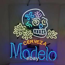 Modelo Cerveza Neon Signs Gift Beer Bar Pub Store Room Wall Window Display 24x20
