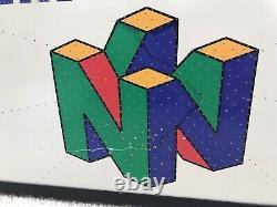 N64 Nintendo 64 Fiber Optic Display Sign Rare Read