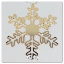 NEW Chanel CC Snowflake Perfume Store Display & Ornament Gold Tone Metal VIP