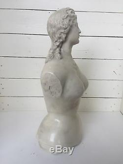NUDE 1877 DR WARNERS HEALTH CORSET STORE Advert DISPLAY Bust Mannequin LADY NICE