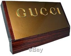 NWT GUCCI COUNTER BACKBOARD STORE DISPLAY SIGN NEW 12.50 x 4.50