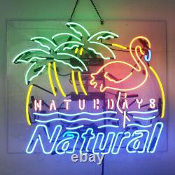 Neon Signs Gift Natural Light Beer Bar Pub Store Room Wall Windows Display 24x20