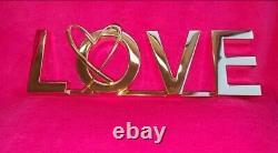 New VERY RARE Victoria's Secret Prop Display LOVE PINK Gold Sign Room Decor