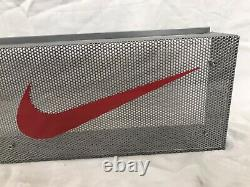 Nike In-Store Signage/Display/Advertisement -Steel And Clear Enamel 30x 8 x 4