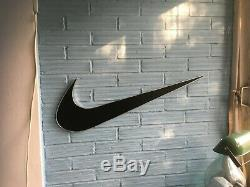 Nike Logo Sign 33 Display Store Swoosh Advertising Black Wall Hanging Plastic
