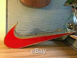 Nike Logo Sign 33 Lights Up Light Display Store Swoosh Advertising Red
