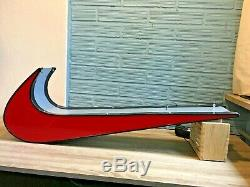 Nike Logo Sign 33 Lights Up Light Display Store Swoosh Advertising Red Double