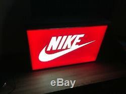 Nike Logo Sign Light Box Light Display Store Swoosh Advertising Red
