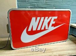 Nike Logo Sign Light Box Light Display Store Swoosh Advertising Red Double