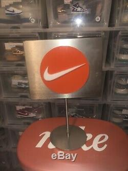 Nike Store Display Vintage Double Sided Swoosh Sat On Show Room Table 90s