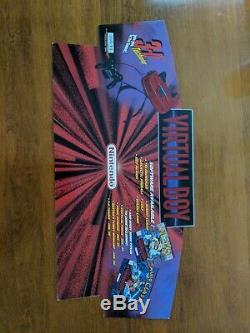 Nintend Virtual Boy Kiosk Store Display Sign Promo Promotional RARE 2SIDED 28x12