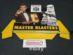 Nintendo 64 GOLDENEYE / STAR WARS Store Display Sign 007 James Bond Promo N64