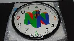 Nintendo 64 N64 1999 Clock Promo Store Display Sign NEW IN BOX N64M03NC
