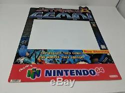 Nintendo 64 N64 Jet Force Gemini RARE Store Display Sign Promo Promotional VTG
