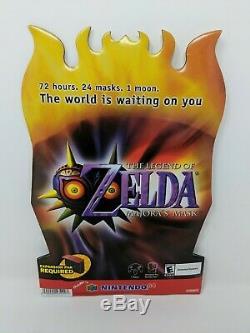 Nintendo 64 N64 Zelda Majora's Mask Store Display Sign Standee Promo VTG