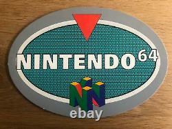 Nintendo 64 Store Display Advertising Sign Nintendo Super Rare N64