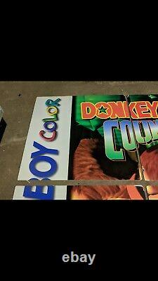 Nintendo Donkey Kong Country Store Sign PROMO Display GIANT POSTER