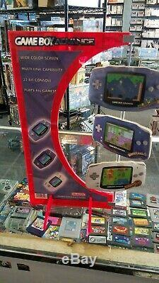 Nintendo Game Boy Advance Retail Store Display Tabletop Stand GameBoy Advanced
