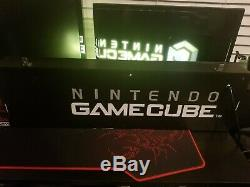 Nintendo Gamecube Display Store Sign TESTED FREE SHIPPING