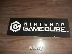 Nintendo Gamecube Sign Store Display Promo RARE Vintage & Original