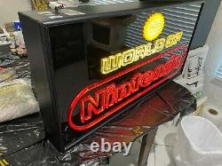 Nintendo M36N World of Nintendo Superbrite Store Display Sign