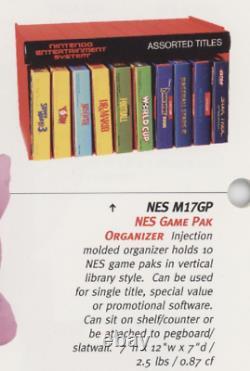 Nintendo NES 1993 M17GP Shelf Game Pak Organizer Store Display Sign Kiosk RARE