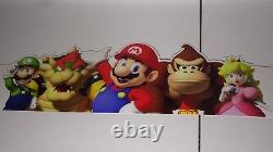 Nintendo Plastic Amiibo Store Sign Promo Display Zelda Mario