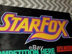 Nintendo Super Star Fox Weekend Store Competition Display Banner Sign Starfox