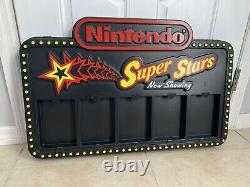 Nintendo Super Stars M29 Store Display Sign