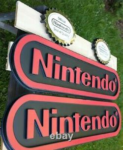 Nintendo Two Sided Store Display Sign with Official Seal. 4ft Long VIDEO LINK